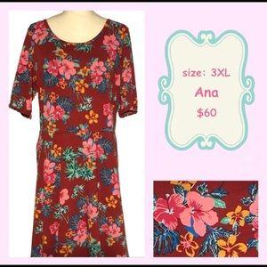 nwt llr hibiscus ana maxi dress